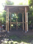 Lots of repurposed pieces in this gazebo project.